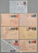 Storia postale. LUOGOTENENZA, REPUBBLICA. 7 cart. postali usate nel 1945 - 47.