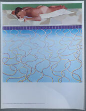 David Hockney  - Sunbather - From ICA Exhibition 'Painted In Britain' 1970 Print