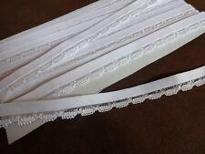 0,99€/m-Gummiband, Rüschengummi,Gummilitze ,Wäschegummi in weiß 3mx13mm
