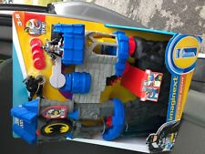 Fisher Price Imaginext Wayne Manor Batcave waterfall new ninja Batman batcycle