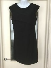 Black Fitted Body Con Dress By Top Shop, UK Size 16 - FREE UK POSTAGE