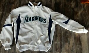 Seattle Mariners Majestic Therma Base Jacket Pro Team Edition White Size L - EUC