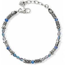 NWT Brighton GLEAM AZUL Blue Crystal Bead Silver Bracelet MSRP $42