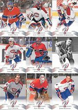 U PICK EM LOT 2008-09 08-09 Montreal Canadiens Centennial base set ANY 4 cards
