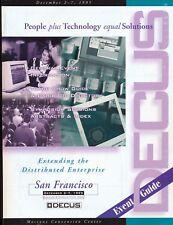 DECUS 1995 Conference Program & Event Guide - Moscone, San Francisco - 100 pg