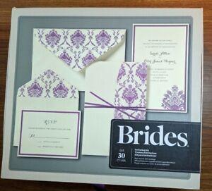 BRIDES®  Pocket Wedding Invitation Kit, Set of 2 Invitations  New Purple