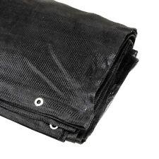 6' x 8' Feet Black Mesh Tarp Screen Shade Privacy