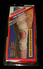 Swede-O Hinged Therapy Open Knee Wrap Brace Single Pivot Thermoskin Beige SMALL