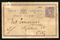 BRITISH SOUTH AUSTRALIA Postal Stationery 1889 - VF