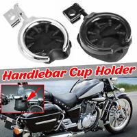 Universal Handlebar Cup Holder Motorcycle Metal Drink Basket For Harley  */!