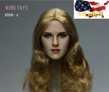 1//6 Female Head blonde curly hair GC005A for Phicen Hot Toys KUMIK ❶US IN STOCK❶