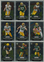 2015 Panini Prizm Green Bay Packers Team Set 9 Cards Brett Favre Aaron Rodgers