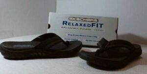 NEW Skechers Relaxed Fit-Reggae-cobano Men's Flip-Flop sz 11 $75