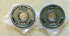 """NEW Pair Set of 2 CAP 2.5LB 2"""" Olympic Grip Weight Plates (5LB Total) SHIPS FAST"""