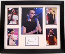 LOUIS TOMLINSON HAND SIGNED FRAMED DISPLAY ONE DIRECTION.