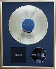"""Nirvana Nirvana gerahmte CD Cover +12"""" Vinyl goldene/platin Schallplatte"""