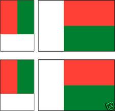 6 Stickers autocollant Vinyl 3ex[100x6mm] + 3ex[60x36mm] drapeau MADAGASCAR