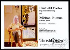 1979 Fairfield Porter Aline painting NYC gallery show vintage print ad