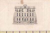 c1840 VICTORIAN PRINT ~ LONDON ~ THE GRAND HOTEL COVENT GARDEN ~ EVANS