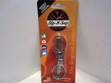 Slip-N-Snip Folding Scissor-CHROME NEEDLE Point -Blister Packed+ POUCH
