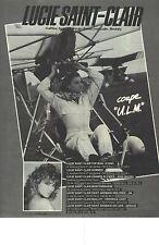 PUBLICITE  1976  LUCIE SAINT CLAIR coiffeur coupe U L M