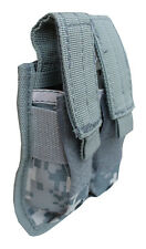 Double Pistol Mag Pouch ACU Color Magazine Holder with Molle Straps