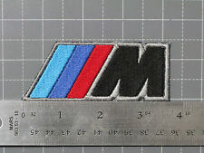 BMW M LOGO BLACK BADGE (M-POWER) CAR MOTORCYCLE BIKER RACING PATCH - USA MADE