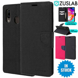 For Samsung Galaxy A20 A30 A50 A70 Case Goospery Stand Wallet Card Case