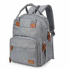 Conleke Diaper Bag backpack Multi-Function (Designed for Large Bottles-Grey)