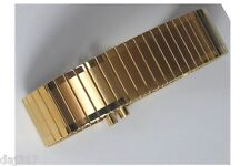 16mm - 21mm GOLD PLATED STAINLESS STEEL FIXO FLEX STYLE EXPANDING WATCH BRACELET