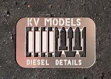 WINDSHIELD WIPER/WIND DEFLECTOR DIESEL DETAIL SET #1 HO SCALE KV MODELS KV-1008H