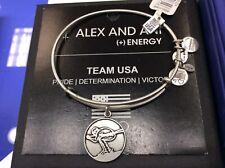 Alex and Ani Team USA Skier Bangle Bracelet Silver NWT