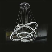 Tiffany Island Crystal 4LED Round Rings Ceiling Lights Pendant lights Chandelier
