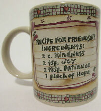 The Boyds Collection LTD Bearware Pottery Works Recipe For Friendship Mug Cup