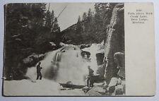 1907 POSTCARD FALLS ABOVE ROCK CREEK LAKE DEER LODGE MONTANA TO CLEVELAND OHIO