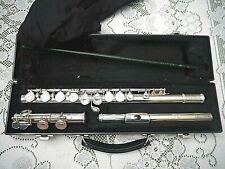 """Silver Flute, James Galway """"Spirit"""" Flute Green Gem Silver Plate JG1"""