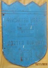Vintage Ship Engine Builder Brass ORIGINAL Plaque Plate HORTEN VERFT 1973