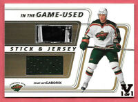 2015-16 Marian Gaborik ITG Final Vault 2002-03 BAP Game Used Jersey Stick 1/1