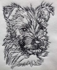 Completed Embroidery Cairn Terrier Puppy