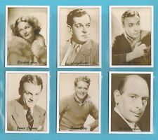 JF SPORTING COLLECTIBLES - SET OF XL 24 FAMOUS FILM STARS 1930s OF THE WORLD 1ST