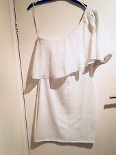 elise ryan ladies one shoulder white body con dress size 10-12