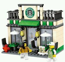 City scene Starbucks minifigures bricks building blocks construction lego