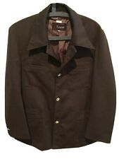 Vintage Mens Keycini Brown Jacket Blazer Topstitch Detail Size 40 Made Korea