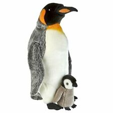 Large King Penguin and Chick Soft Toy Ravensden 50cm Suma Collection