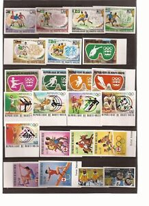 BURKINA FASO(formerly Upper Volta)-Sports/Olympics theme-Many unlisted imperf is