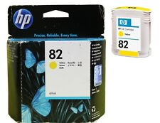 NEW ORIGINAL 2017 DATE HP 82 C4913A YELLOW 815MFP 500 500S 800 800PS FASTPOSTAGE