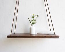 Hanging Wall Shelf Decorative Wood Swing Shelves Wood Plant Holder Flower Stand