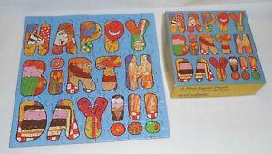 Complete 70 Piece Vintage Springbok Mini Puzzle.  Happy Birthday! 1977