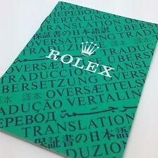 Rolex official certification