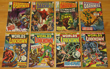 Marvel Horror 1969-74 CHAMBER OF DARKNESS 1 2 4 Proto-Conan, WORLDS UNKNOWN 1++